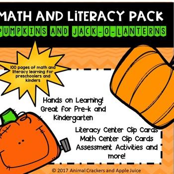 Math and Literacy Pack: Pumpkins and Jack-o-Lanterns