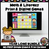 Math and Literacy Print AND Digital Games for Google Slide