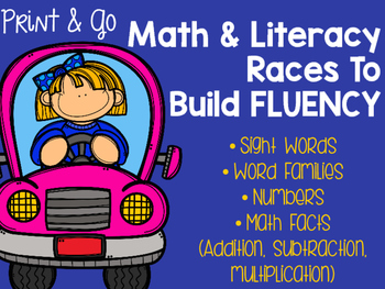 Math and Literacy Races to Build Fluency