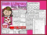 Math and Literacy Skill Sheets Set for February