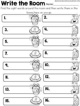 Math and Literacy Space Activities Preschool & Kindergarten