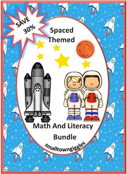 Bundle Space Math and Literacy Centers Kindergarten Special Education Preschool