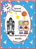 Bundle Space Math and Literacy Centers Kindergarten Special Education Preschool