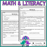 Spring Math and Literacy Word Problems Activities