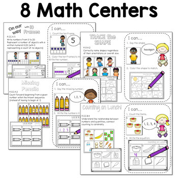 Math and Literacy Stations for August & September