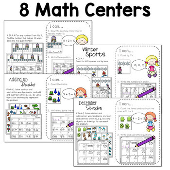 Math and Literacy Stations for December