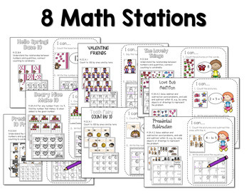 Math and Literacy Center for February