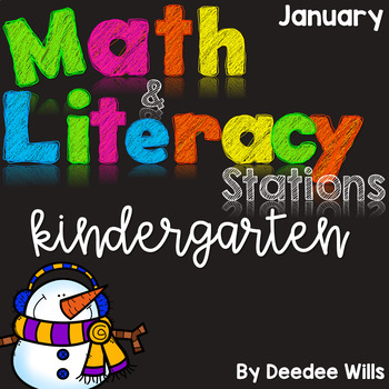 Math and Literacy Stations for January