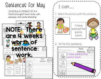 Math and Literacy Stations for May