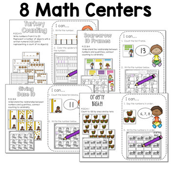 Math and Literacy Center for November