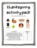 Math and Literacy Thanksgiving Activity Pack
