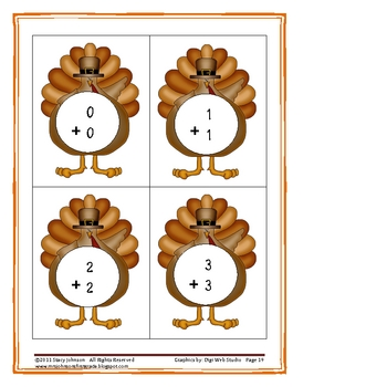Math and Literacy: Thanksgiving Fun