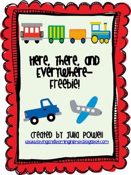 Math and Literacy Transportation Themed Freebie!
