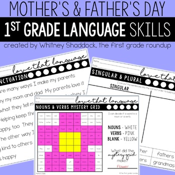 Mother's Day and Father's Day Worksheets for Math & Literacy
