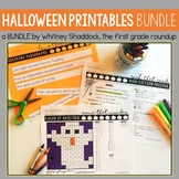 Halloween Worksheets for Math and Literacy BUNDLE