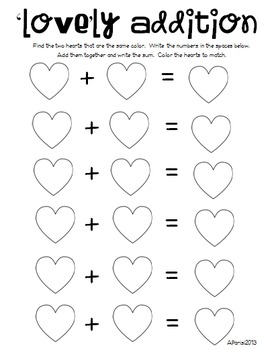 Math and Literacy activities for Valentine's Day