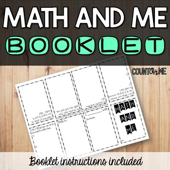 Math and Me Booklet - Back to School Essential