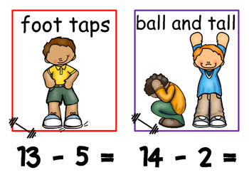 Math and Move! Exercise Task Cards Around the Room {BUNDLE}