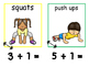 Math and Move! Exercise Task Cards Around the Room {Add to 10}