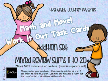 Math and Move! Exercise Task Cards Around the Room {Add wi