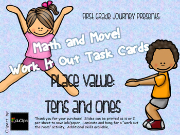 Math and Move! Exercise Task Cards Around the Room {Place Value Tens & Ones}
