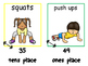 Math and Move! Exercise Task Cards Around the Room {Place
