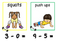 Math and Move! Exercise Task Cards Around the Room {Sub within 10}