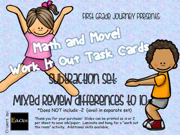 Math and Move! Exercise Task Cards Around the Room {Sub wi