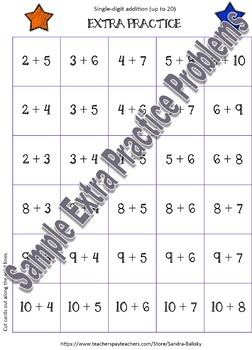 Math Games double digit addition with regrouping