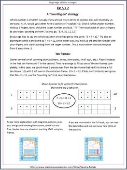 Math Games single digit addition