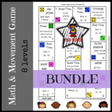 Math Game Boards COMPLETE BUNDLE addition through division