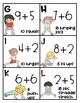Math and Movement Task Cards- Addition