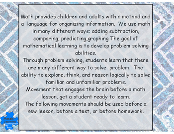 Math and Movement for Elementary Students  with videos