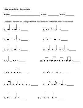 Math and Music Assessment