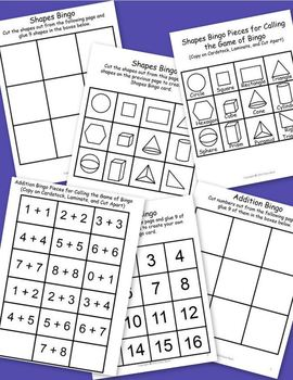 Math and Reading Activities (Winter Theme)