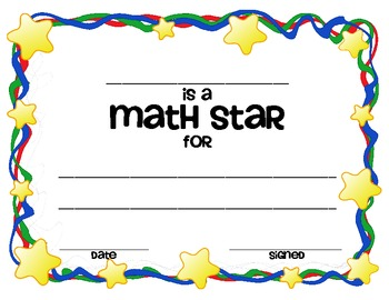 Math and Reading Awards Blank Template - FREEBIE