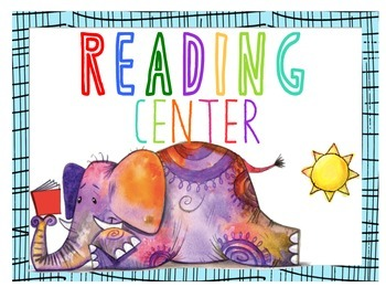 Math and Reading Center Poster