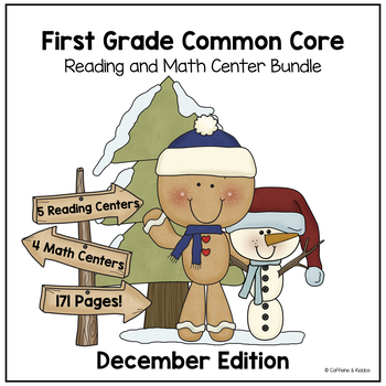 December Math and Reading Center Bundle