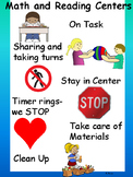 Math and Reading Centers Expectations Anchor Chart