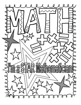 Math and Reading Doodle Coloring
