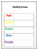 Math and Reading Groups