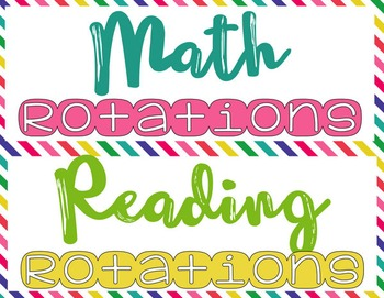 Math and Reading Rotation Board