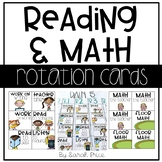 Math and Reading Rotation Center Cards