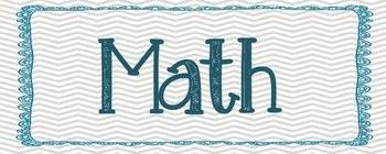 Math and Reading Rotation Labels