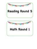 Math and Reading Schedule Cards