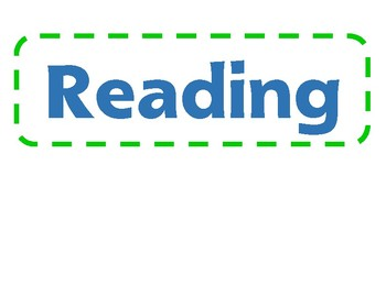 Math and Reading Station Labels