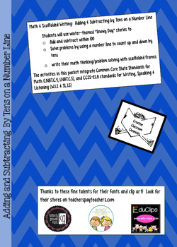 Math and Scaffolded Writing:  Adding and Subtracting By Te