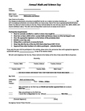 Math and Science Day Permission Slip