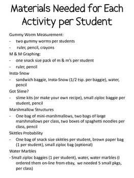 Math and Science Day/Night Packet with 7 Different Activities!