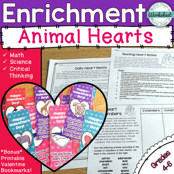 Math and Science Enrichment--Animal Hearts for Valentine's Day